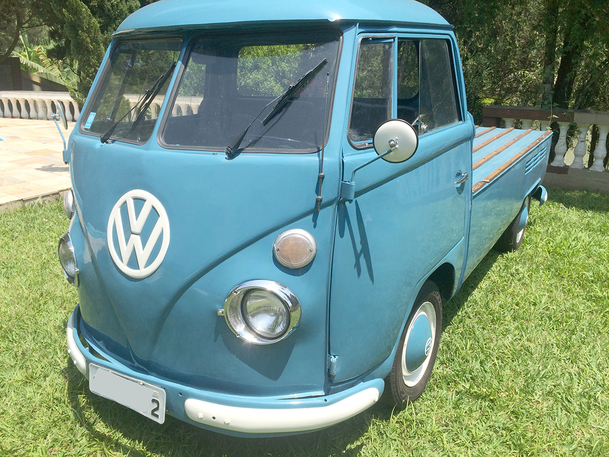 VW Kombi Pick Up Dove Blue 1975