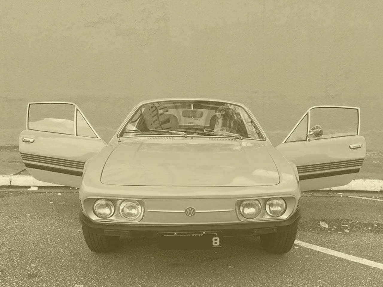 VW SP1 Amarelo Texas 1973