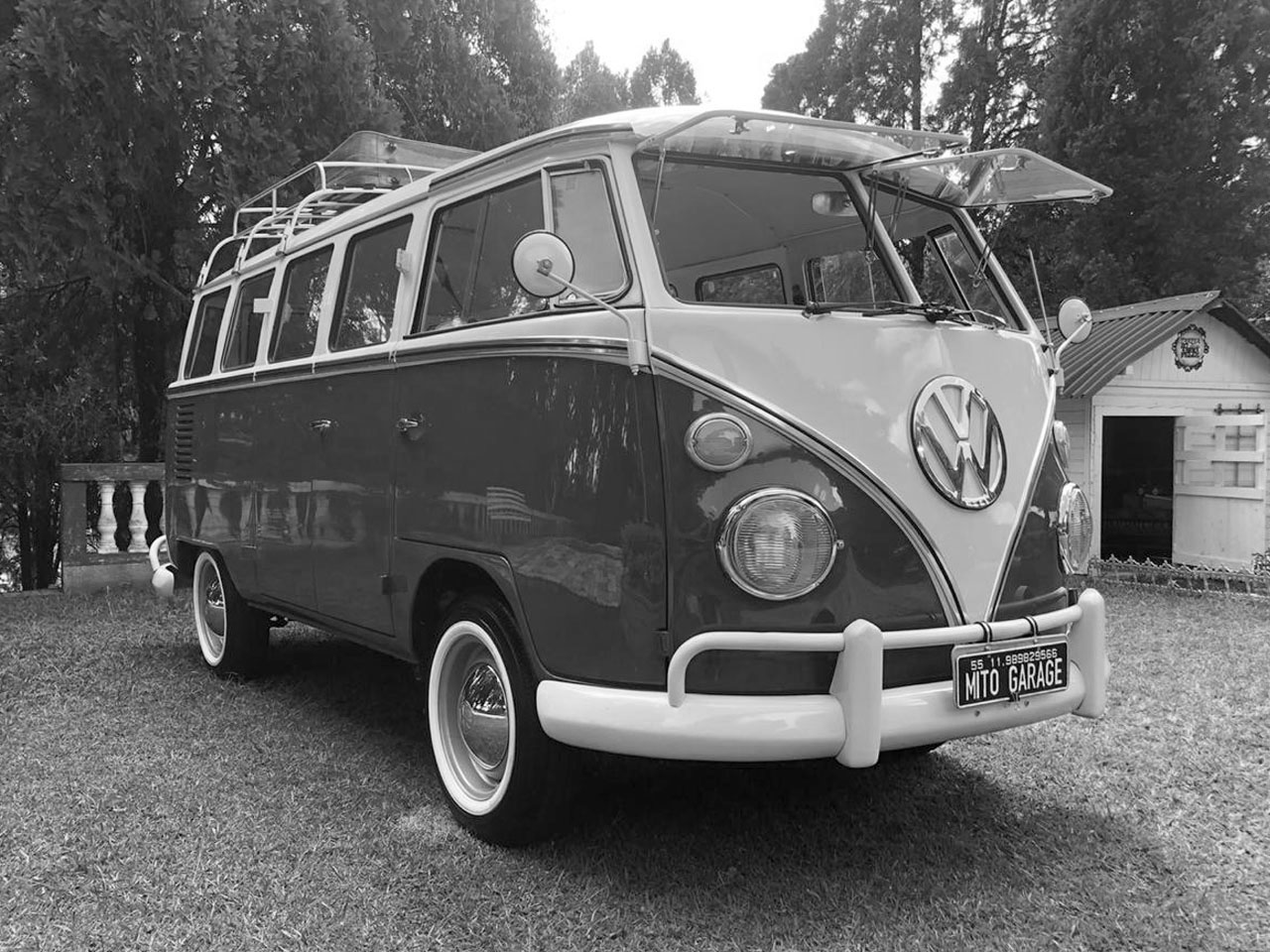 VW Kombi T1 Cherry White 1973