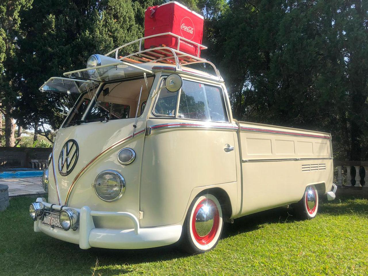 VW Kombi T1 Pick Up Branca 1975