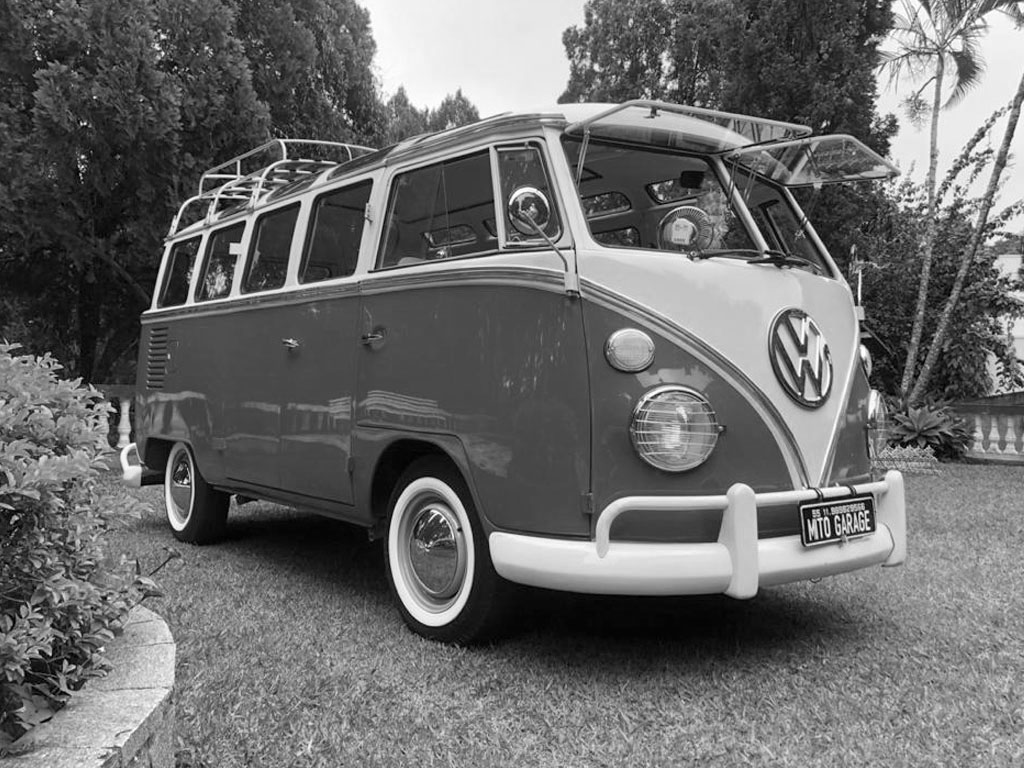 VW Kombi T1 Samba (Réplica) Arara Blue White 1974