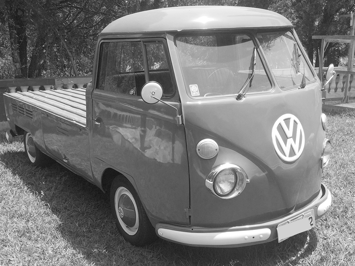 VW Kombi Pick Up Dove Blue 1975
