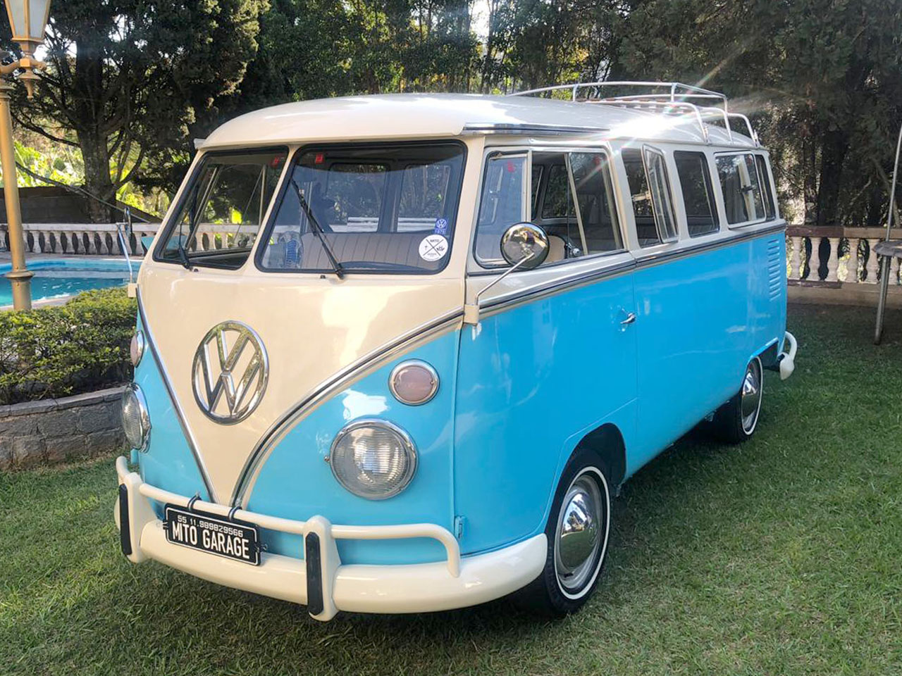 VW Kombi T1 Azul Caiçara 1975